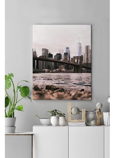 MarkaEv Canvas Şehir Manzara Tablo 0129 Renkli